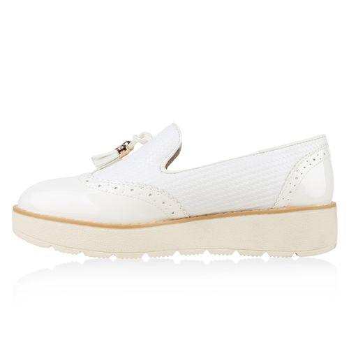 Damen Slippers Loafers - Weiß