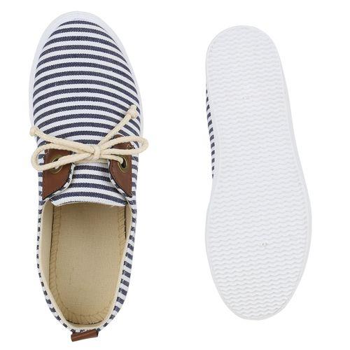 Damen Sneaker low - Weiß Dunkelblau