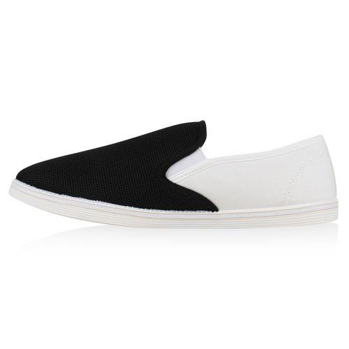 Slip Ons Herren Weiß Sneaker Schwarz 0HqxTa