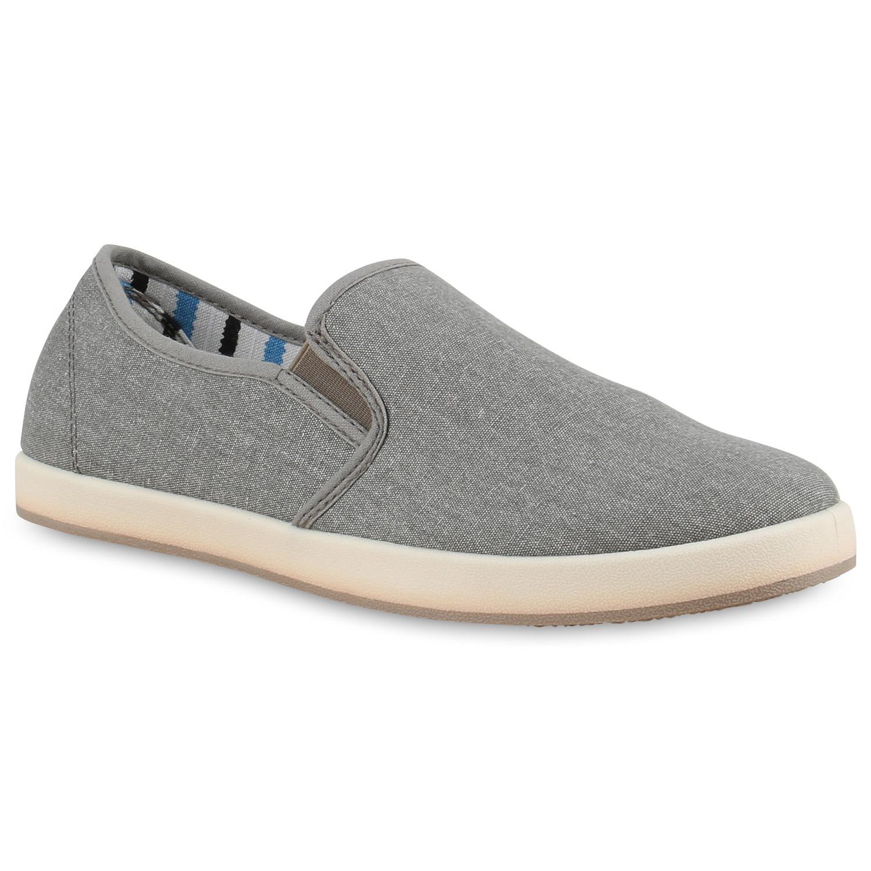 Herren Sneaker Slip Ons - Hellgrau