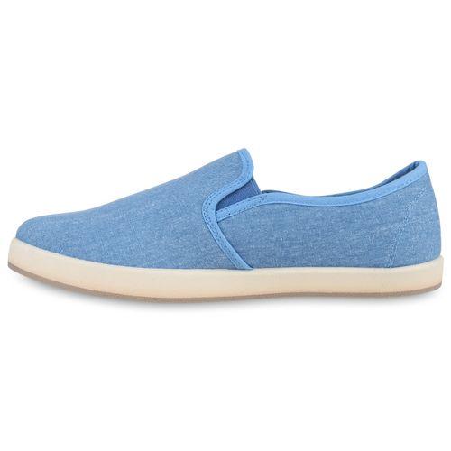 Herren Sneaker Slip Ons - Blau