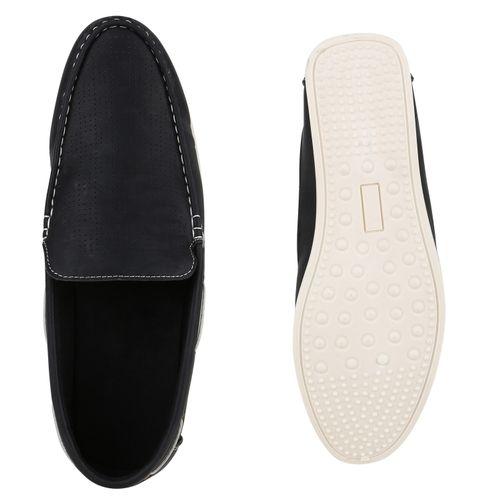 Herren Slippers Bootsschuhe - Schwarz