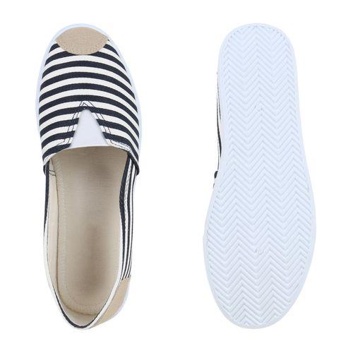 Damen Slippers Slip Ons - Dunkelblau