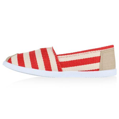 Damen Slippers Slip Ons - Rot