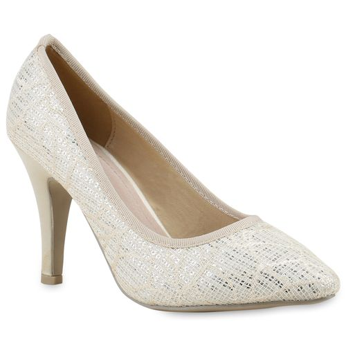 Damen Creme Pumps Spitze Spitze Spitze Damen Pumps Damen Creme Pumps wpYCaHq