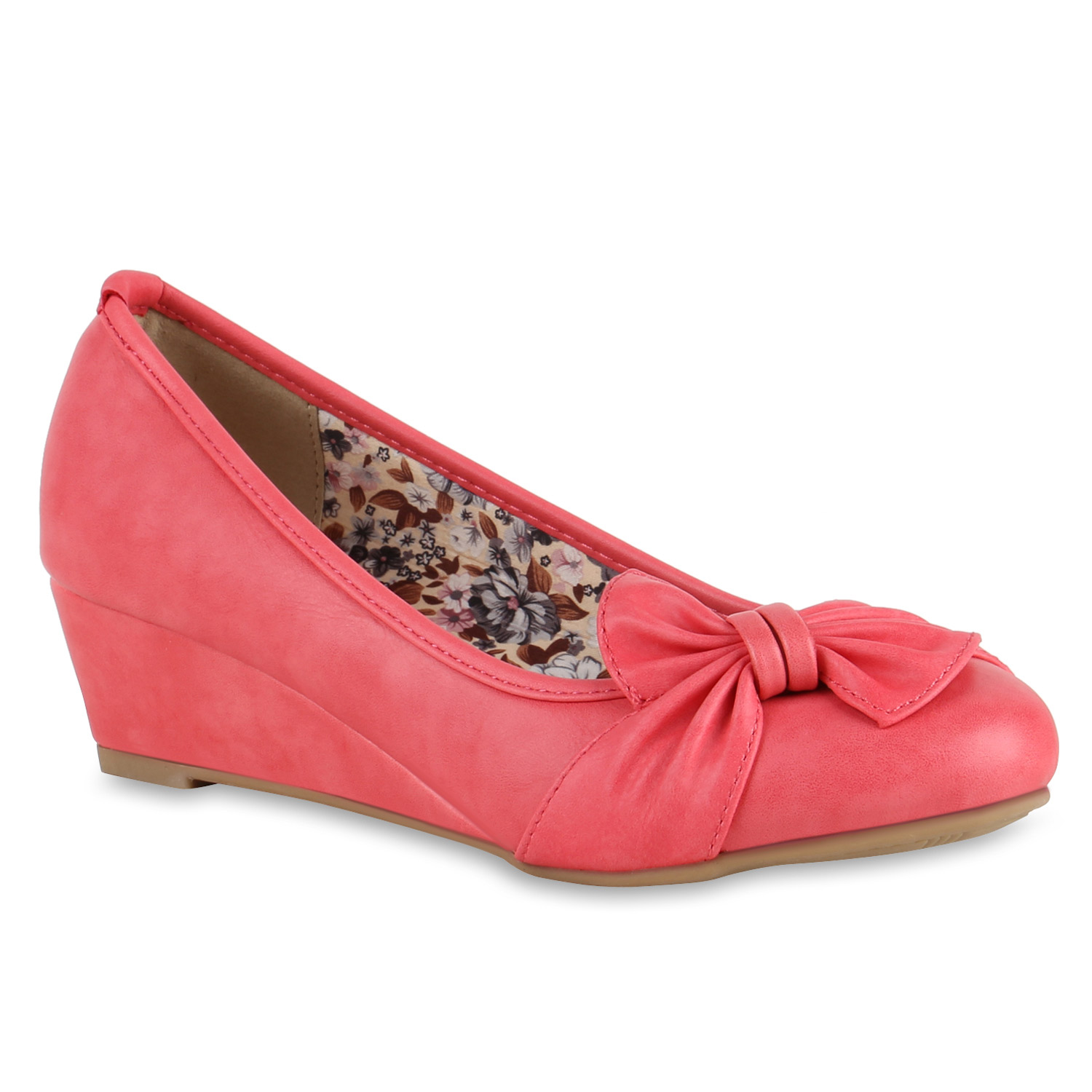 Damen Pumps Keilpumps - Coral