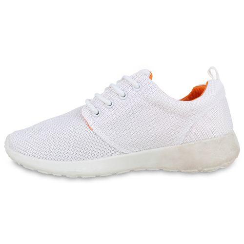 Damen Sportschuhe Laufschuhe - Weiß Orange