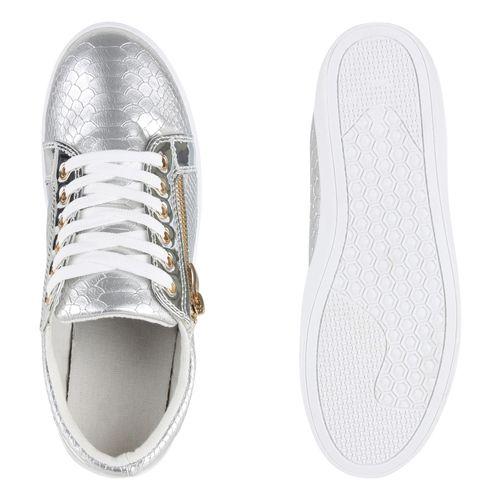 Silber Sneaker Sneaker Damen Damen Low Low Sneaker Silber Damen qt5fw7x5