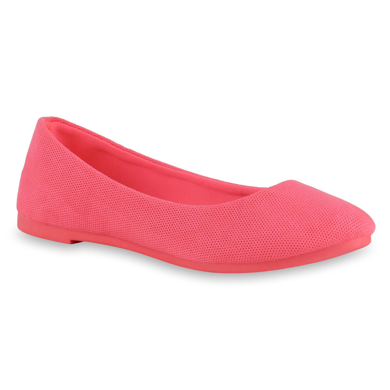 Damen Klassische Ballerinas - Neon Pink