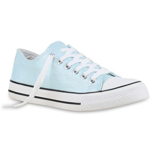 Damen Damen Sneaker Low Hellblau Sneaker OzOqxr