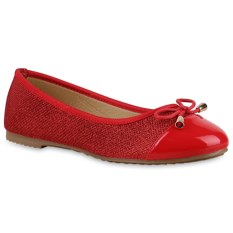 Ballerinas für Frauen - Damen Klassische Ballerinas Rot  - Onlineshop Stiefelparadies