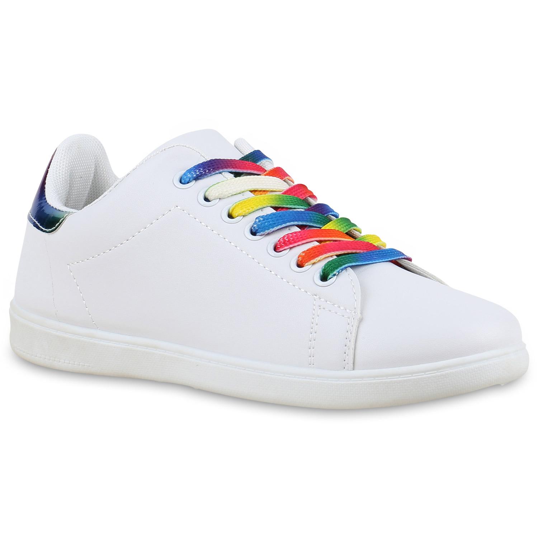 Damen Sneaker low - Weiß Mehrfarbig