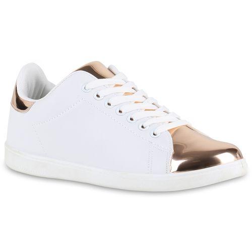 Damen Sneaker low - Weiß Rose Gold