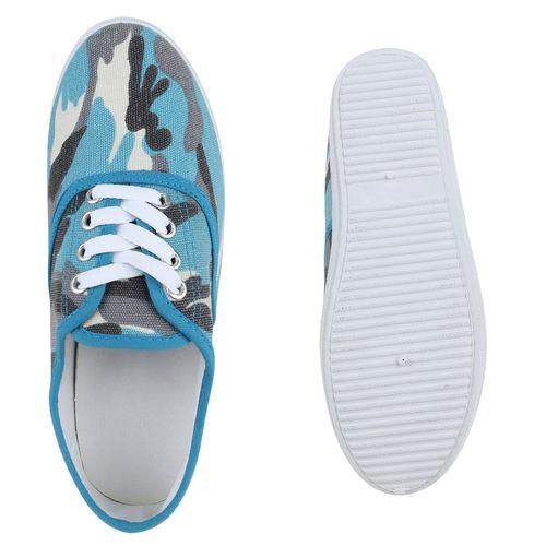 Damen Sneaker low - Camouflage Blau