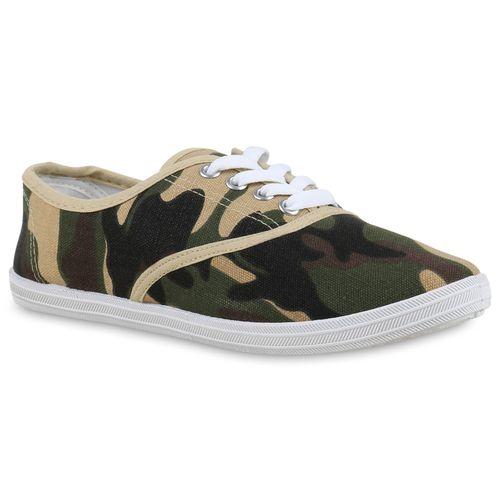 Damen Sneaker low - Camouflage Creme