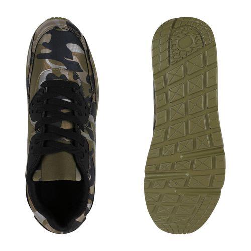 Damen Sportschuhe Laufschuhe - Camouflage Schwarz