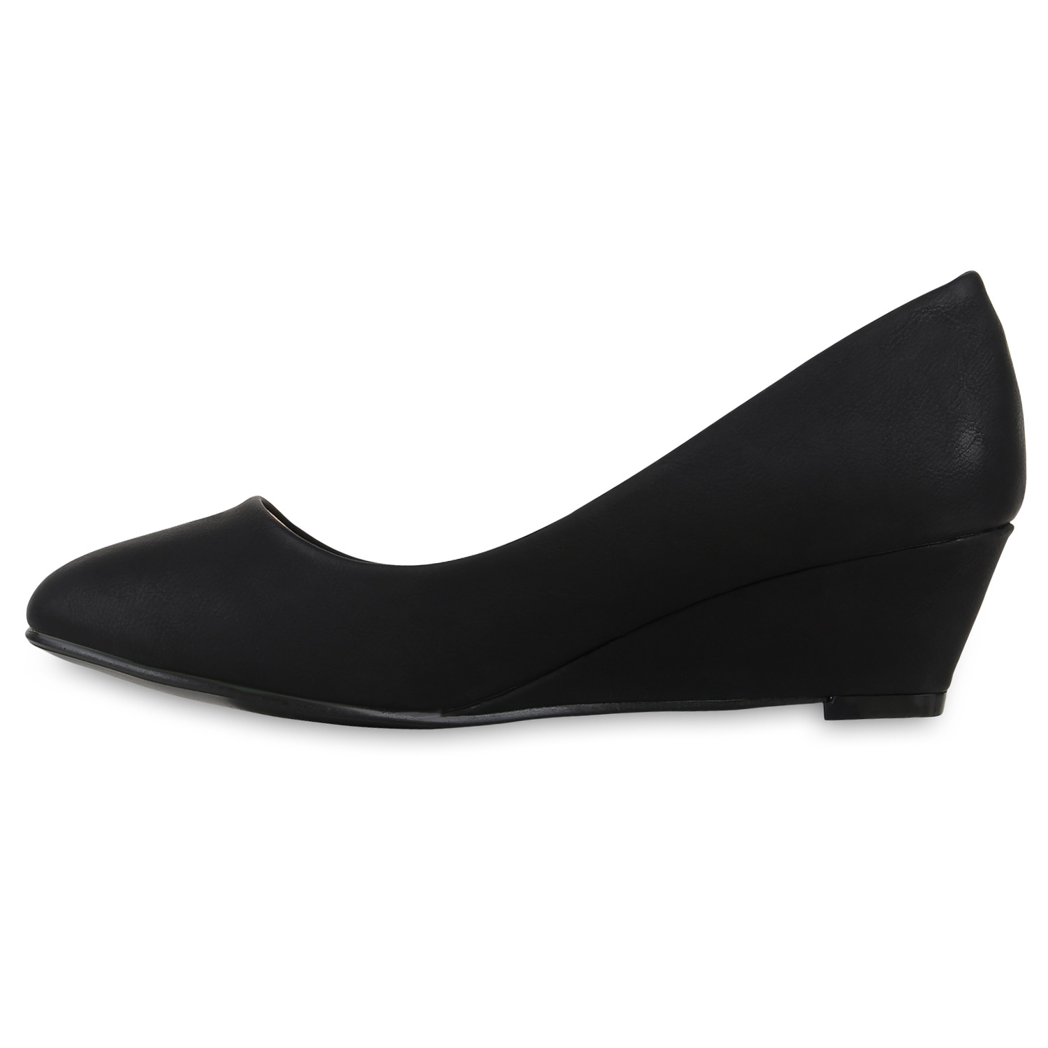 Elegante Damen Pumps Keilabsatz Wedges Business Schuhe 815064 Top