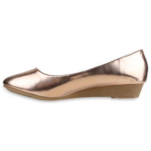 Damen Keilballerinas - Rose Gold