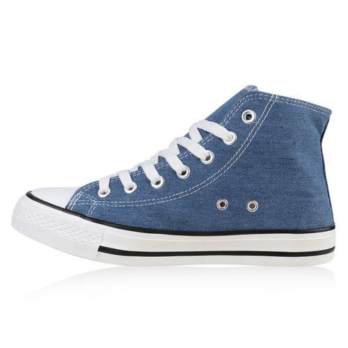 Sneaker Sneaker High High Blau High Damen Damen Sneaker Blau High Blau Damen Sneaker Damen 4Ywq55T