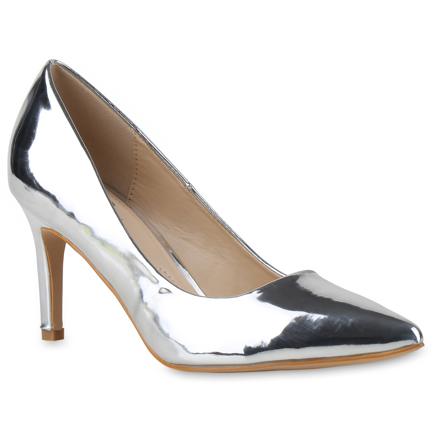 f78ef064ea5112 Damen Pumps in Silber (815223-526) - stiefelparadies.de