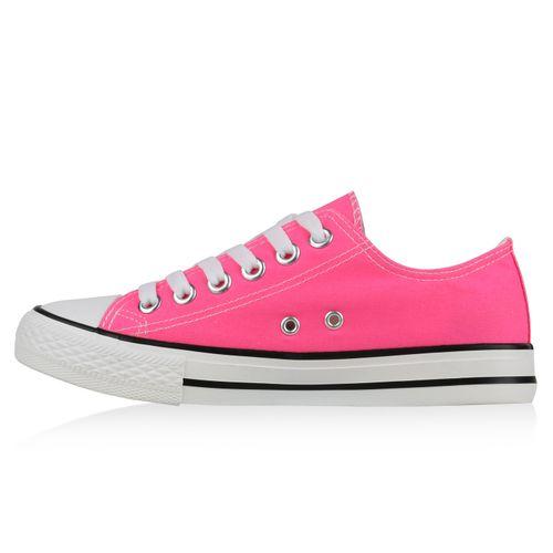 Damen Low Sneaker Sneaker Neonpink Damen 7z6dwqFB