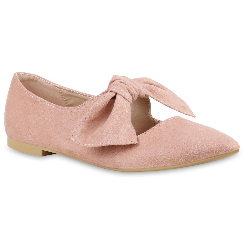 Damen Ballerinas Riemchenballerinas - Rosa