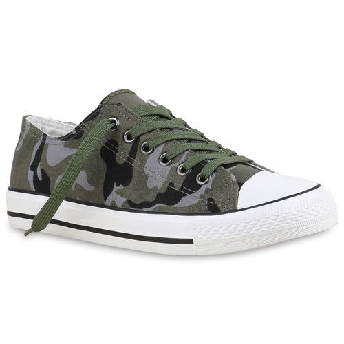 Damen Sneaker low - Camouflage Grau