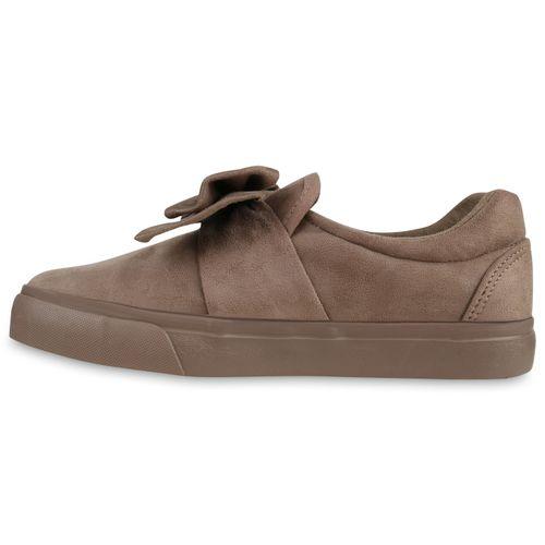 Damen Sneaker Slip Ons - Khaki