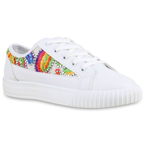 3b5f881943 Damen Sneaker in Weiß Mehrfarbig (815332-4504) - stiefelparadies.de