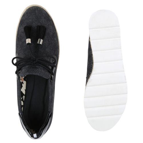 Damen Slippers Plateauschuhe - Schwarz