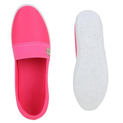 Damen Slippers Slip Ons - Pink