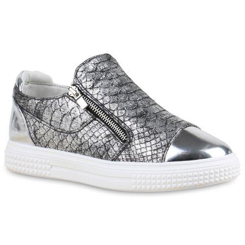 Damen Sneaker low - Grau Metallic