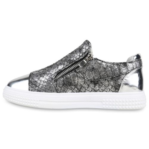Damen Sneaker low - Grau Metallic