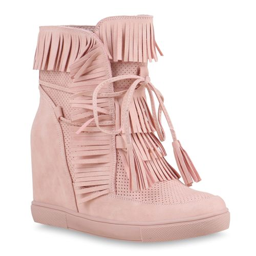 Damen Damen Sneaker Wedges Wedges Rosa Sneaker Rosa Damen Fnqg6taa