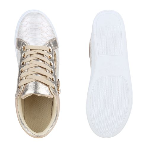 Damen Sneaker low - Gold
