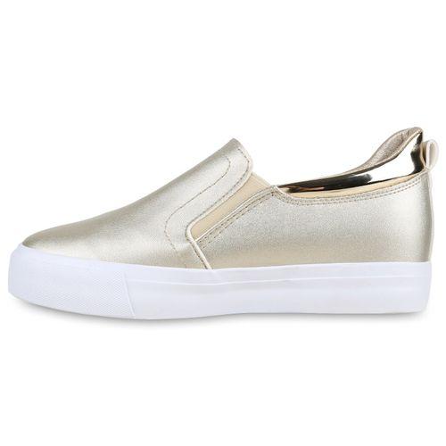 Wedges Gold Sneaker Sneaker Sneaker Damen Wedges Damen Gold Damen vzxZqR