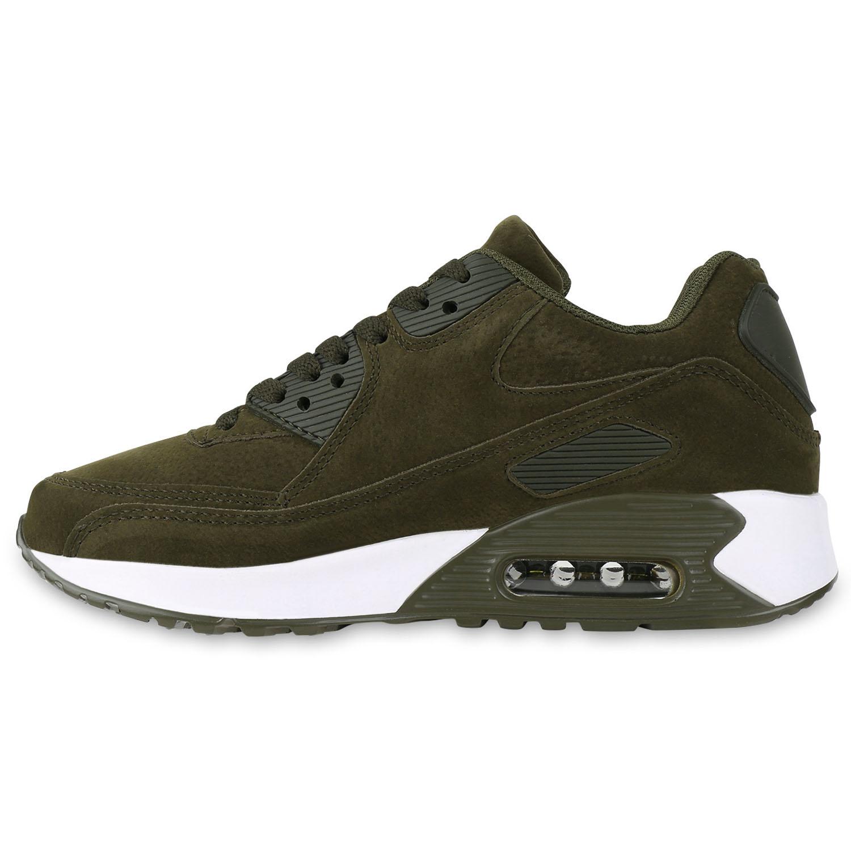 Damen Sportschuhe Runners Leder-Optik Sneakers Laufschuhe 815472 Schuhe