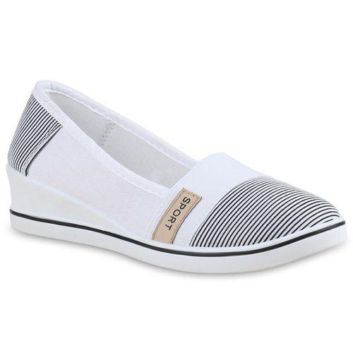 Damen Keilslippers - Weiß