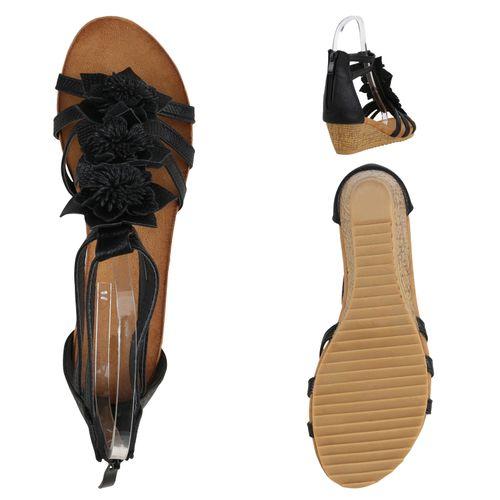 Damen Sandaletten Keil Sandaletten - Dunkelblau