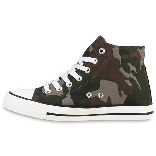 Damen Sneaker high - Camouflage Braun