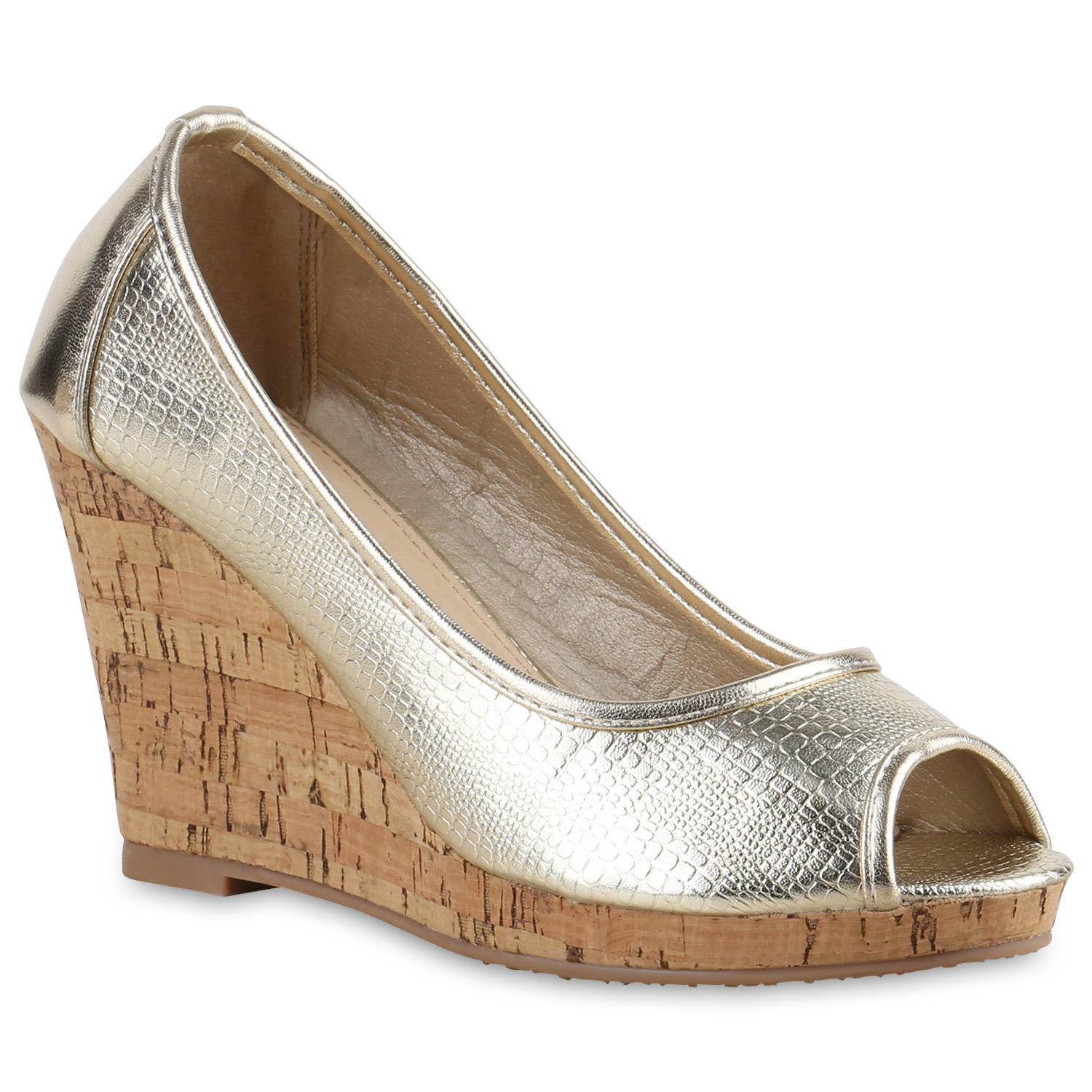 Damen Pumps Keilpumps - Gold
