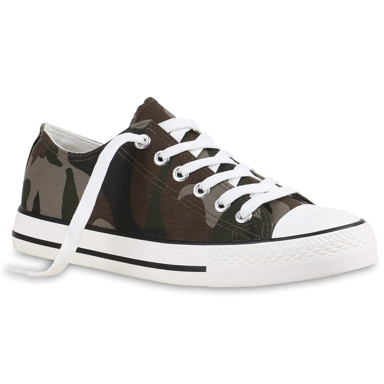 Damen Sneaker low - Camouflage Grün
