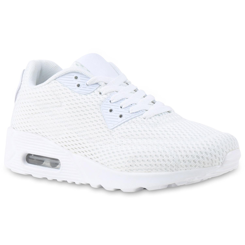 Sportschuhe - Damen Sportschuhe Laufschuhe Weiß › stiefelparadies.de  - Onlineshop Stiefelparadies