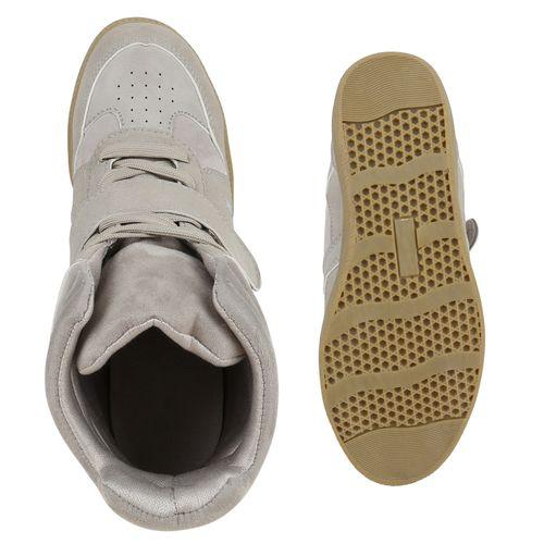 Damen Sneaker Wedges - Hellgrau