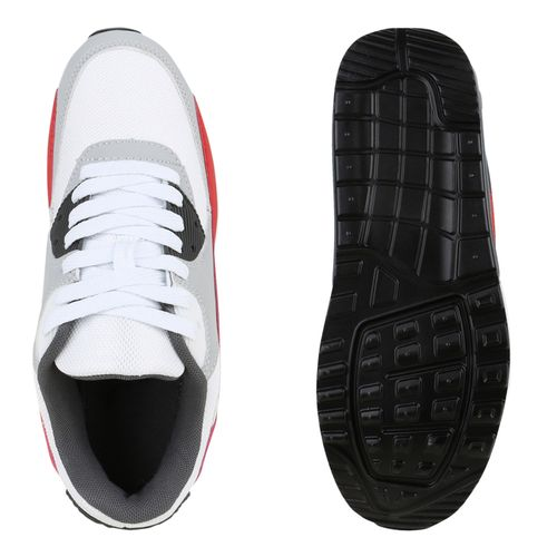 Damen Sportschuhe Laufschuhe - Weiß Grau Rot