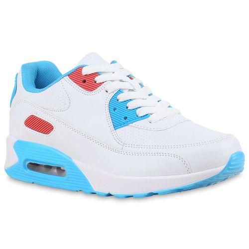 Damen Sportschuhe Laufschuhe - Weiß Blau