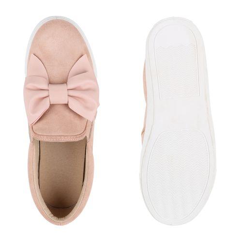 Damen Sneaker Slip Ons - Rose