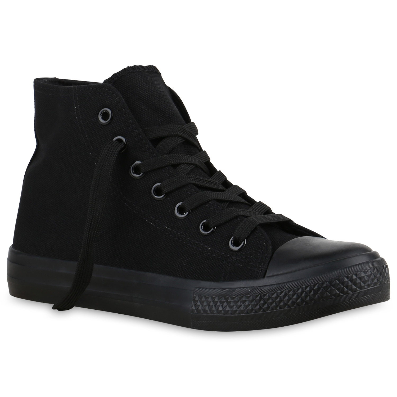 Sneakers - Damen Sneaker high Schwarz Basic › stiefelparadies.de  - Onlineshop Stiefelparadies