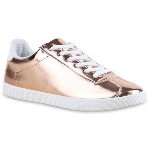 Damen Damen Gold Damen Low Sneaker Rose Gold Sneaker Rose Low DH2E9I