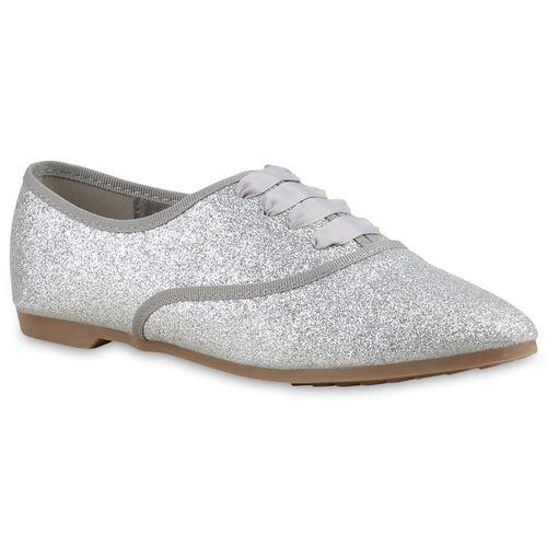 Damen Klassische Halbschuhe - Silber